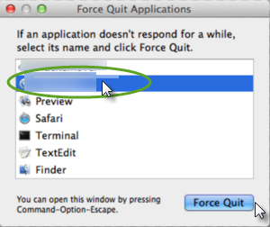 """Force Quit"" button of Mac"