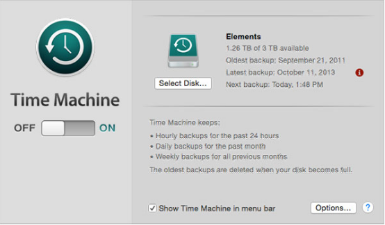 backup Mac files with Time Machine