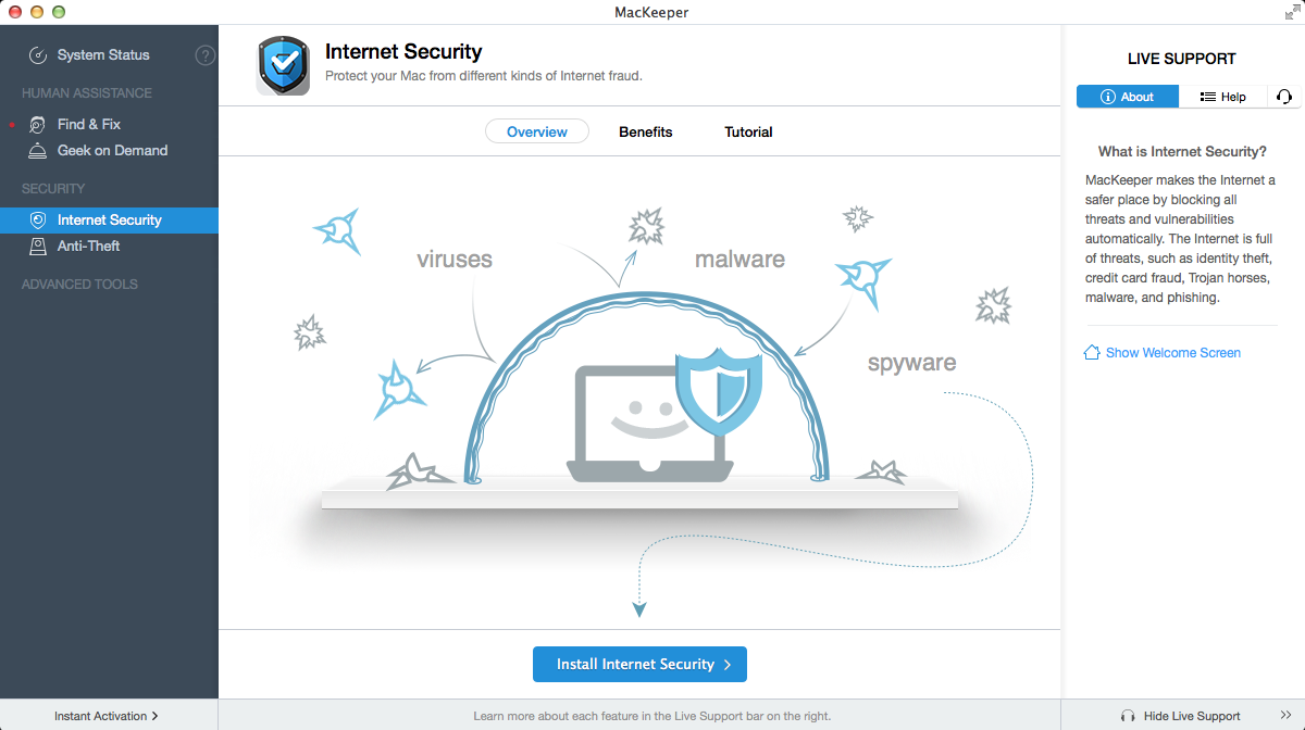 Internet Security function of MacKeeper